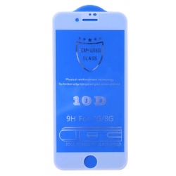 3D tvrzené sklo pro iPhone 6, 6s, 7 a 8 - bílá barva